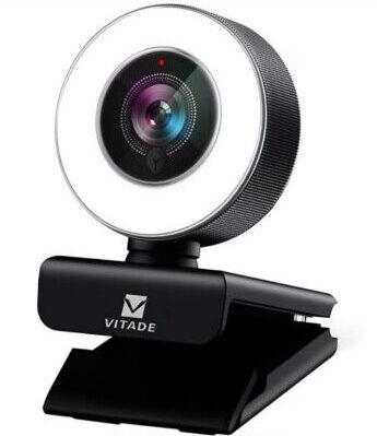ウェブカメラ フルHD 1080P マイク内蔵 LEDライト付き